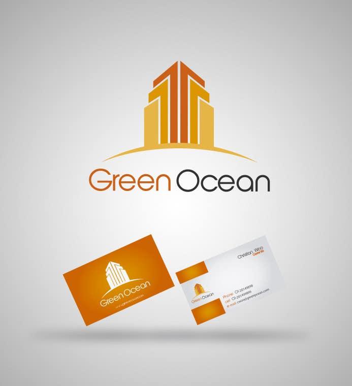 Penyertaan Peraduan #                                        164                                      untuk                                         Logo and Business Card Design for Green Ocean