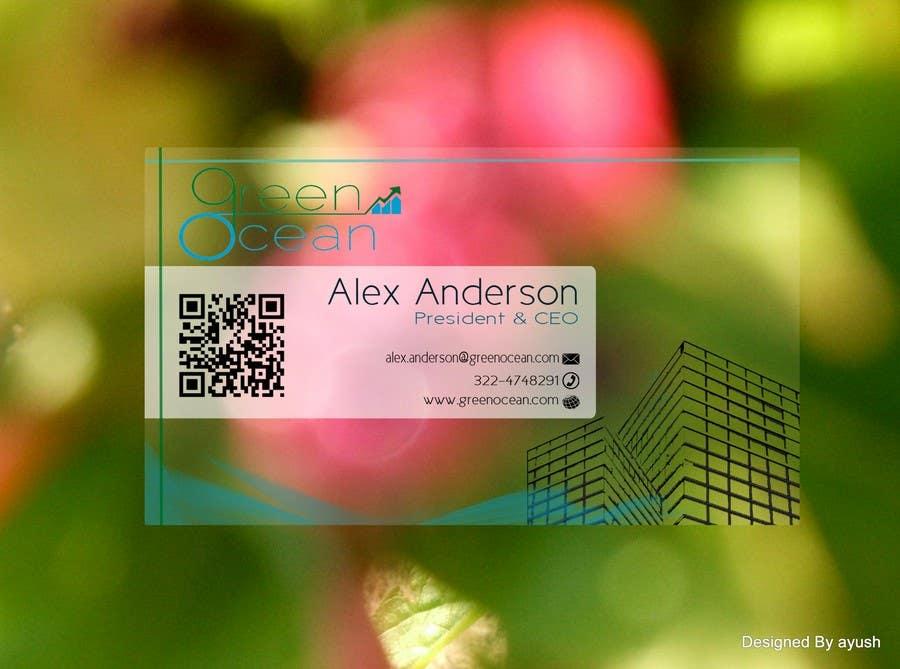 Penyertaan Peraduan #                                        608                                      untuk                                         Logo and Business Card Design for Green Ocean