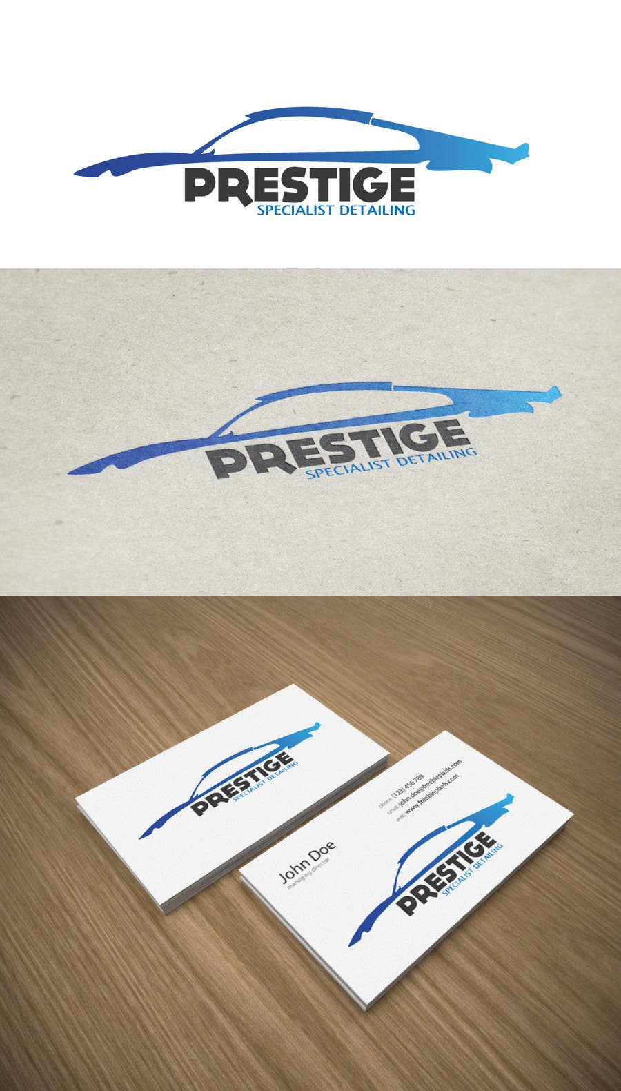 Contest Entry #7 for Logo Design for PRESTIGE SPECIALIST DETAILING