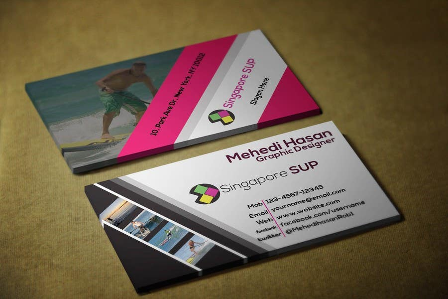 Entry 10 By Mehedi30 For Design Some Business Cards For Singapore