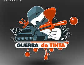 #162 para Logo Design for Guerra de Tinta por drawnsean