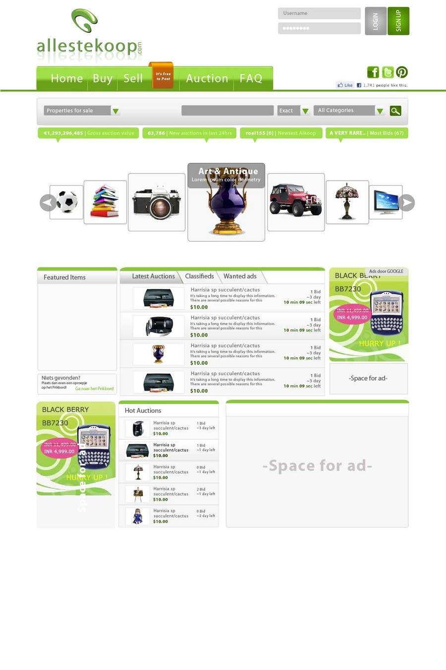 Bài tham dự cuộc thi #                                        16                                      cho                                         Website Design for auction/classifieds