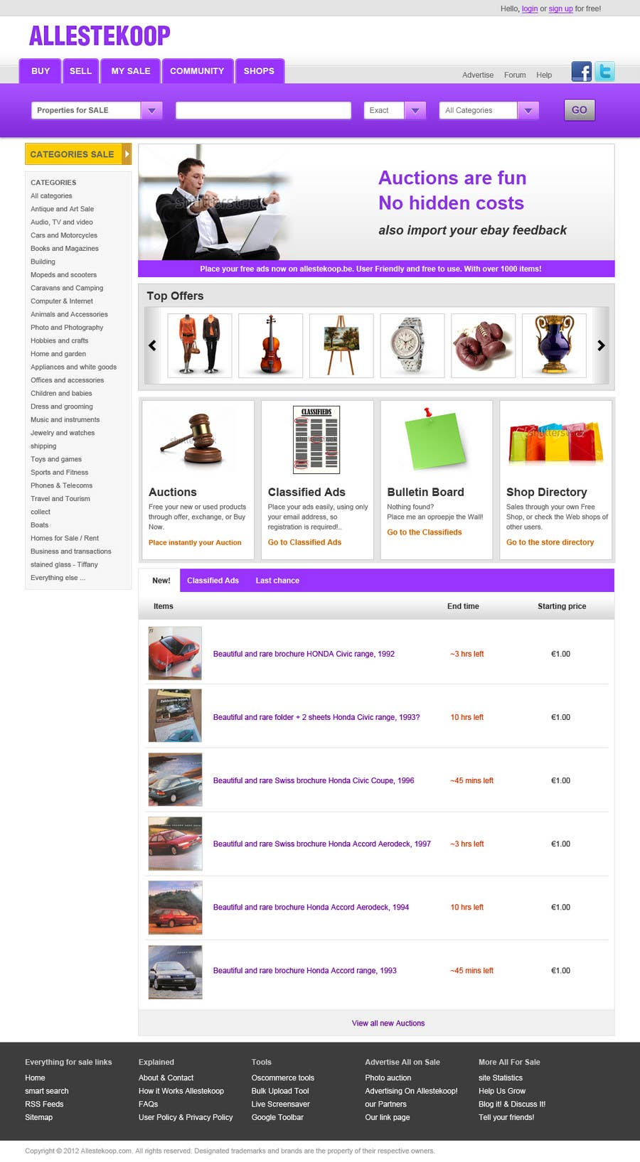 Bài tham dự cuộc thi #                                        9                                      cho                                         Website Design for auction/classifieds
