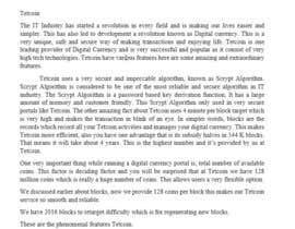 #5 untuk Write the Content for Tetcoin Features Page oleh saurabhkothari1