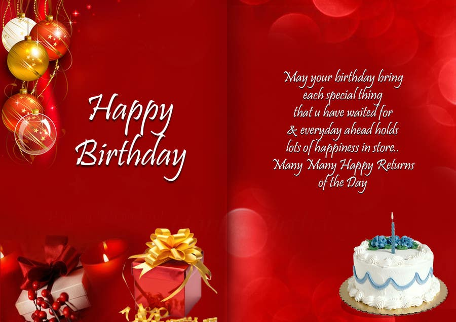Entry 17 By Goutam08 For Design Birthday Ecards For 123greetings