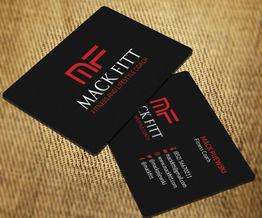 Entry #14 by SarahDar for Design Business Cards for Fitness and ...
