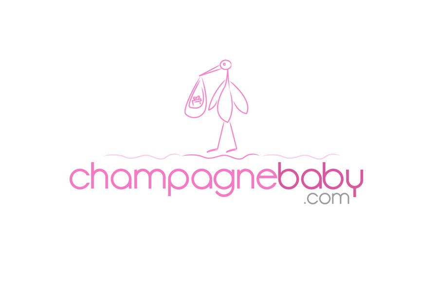 Contest Entry #15 for Logo Design for www.ChampagneBaby.com