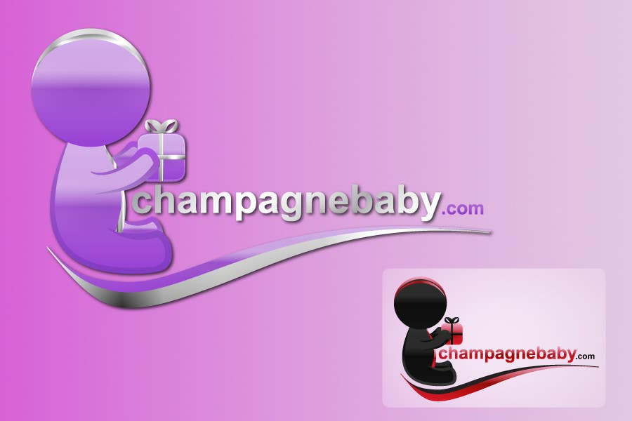 Конкурсная заявка №96 для Logo Design for www.ChampagneBaby.com