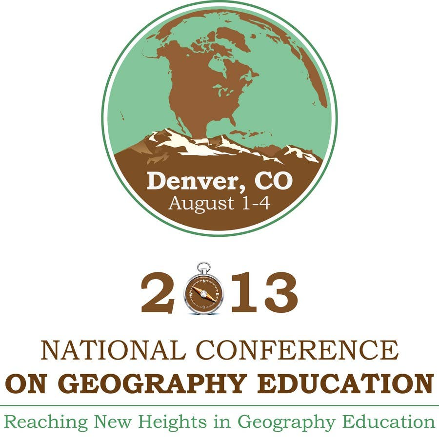 Proposition n°                                        18                                      du concours                                         Graphic Design for 2013 National Conference on Geographic Education