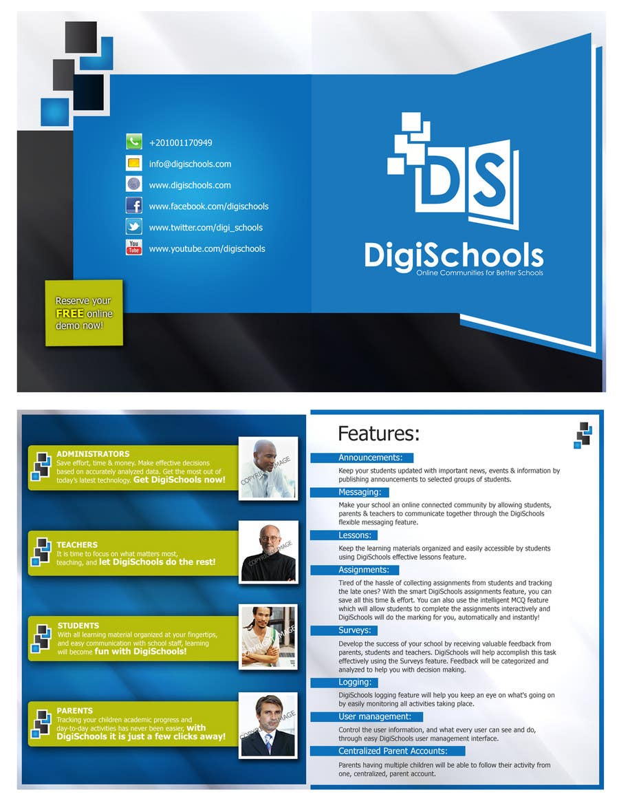 Konkurrenceindlæg #                                        14                                      for                                         Brochure Design for DigiSchools