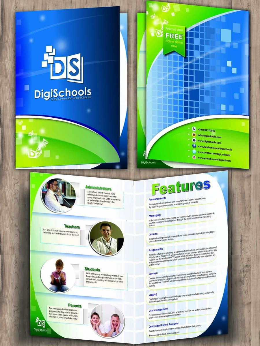 Konkurrenceindlæg #                                        51                                      for                                         Brochure Design for DigiSchools