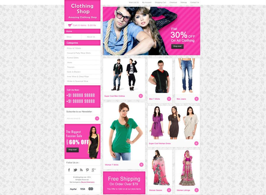 #22 for Design a Website Mockup for ecommerce site dresses and shoes by sureshkumar18