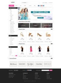 #21 for Design a Website Mockup for ecommerce site dresses and shoes by phamtech211