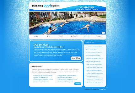 Bài tham dự cuộc thi #                                        17                                      cho                                         Design a Website Mockup/Including Logo for Pool Renovation company