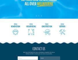 #57 cho Design a Website Mockup/Including Logo for Pool Renovation company bởi Iwanaguilar