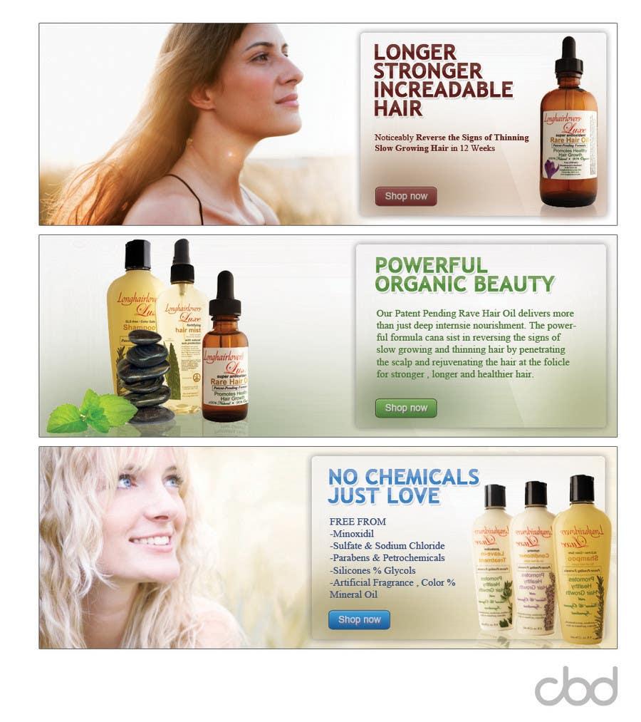 Inscrição nº                                         2                                      do Concurso para                                         Banner Ad Design for 3 Organic Hair Care Website