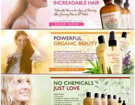 nº 19 pour Banner Ad Design for 3 Organic Hair Care Website par darkitten