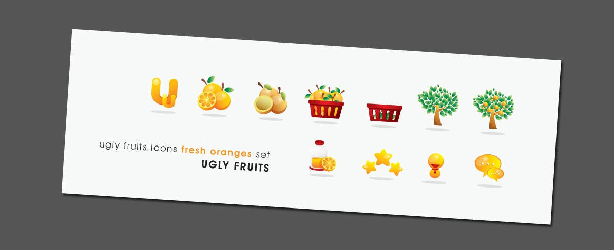 Kilpailutyö #51 kilpailussa Icon or Button Design for UglyFruit