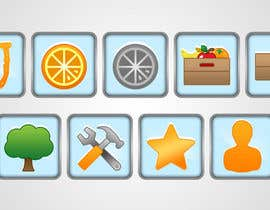 nº 53 pour Icon or Button Design for UglyFruit par shufanok24
