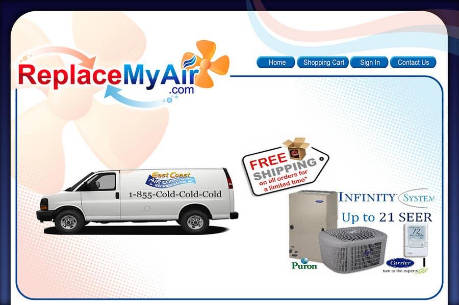 "Intrarea #170 pentru concursul ""Logo Design for Replace My Air .com"""