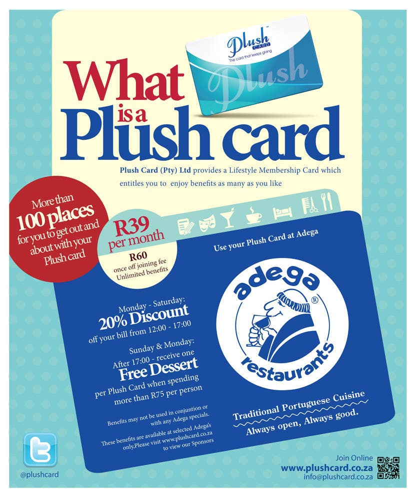 Contest Entry #                                        56                                      for                                         Magazine Advert redesign for Plush Card (Pty) Ltd