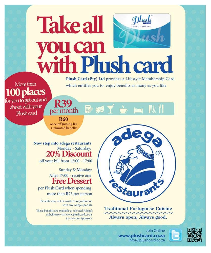 Inscrição nº                                         31                                      do Concurso para                                         Magazine Advert redesign for Plush Card (Pty) Ltd