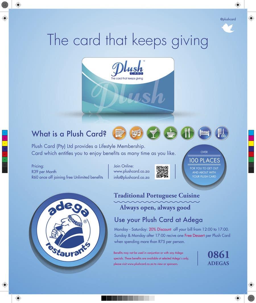Inscrição nº                                         7                                      do Concurso para                                         Magazine Advert redesign for Plush Card (Pty) Ltd
