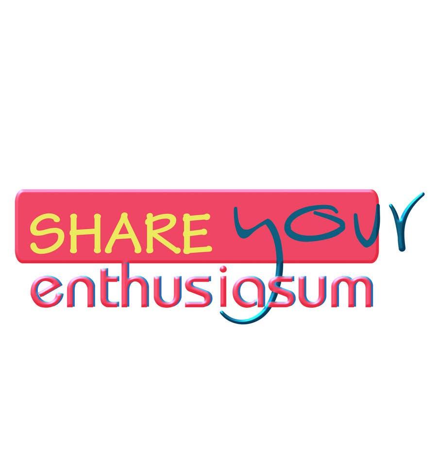 Proposition n°                                        169                                      du concours                                         Logo Design for Share your enthusiasm
