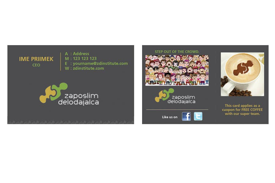 Contest Entry #                                        77                                      for                                         Business Card Design for ZD institute