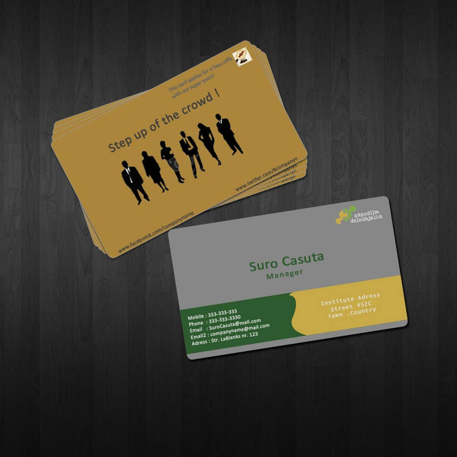 Contest Entry #50 for Business Card Design for ZD institute