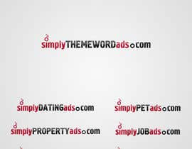 #33 para Logo Design for simplyTHEMEWORDads.com (THEMEWORDS: PET, JOB, PROPERTY, BIKE, VEHICLE, DATING) por llhamidll