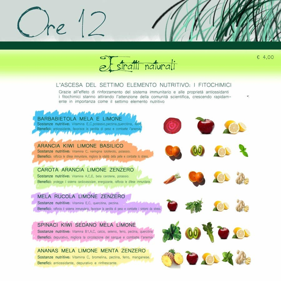 """Penyertaan Peraduan #                                        19                                      untuk                                         Disegnare un MENU per il mio ristorante """"Ore12"""""""