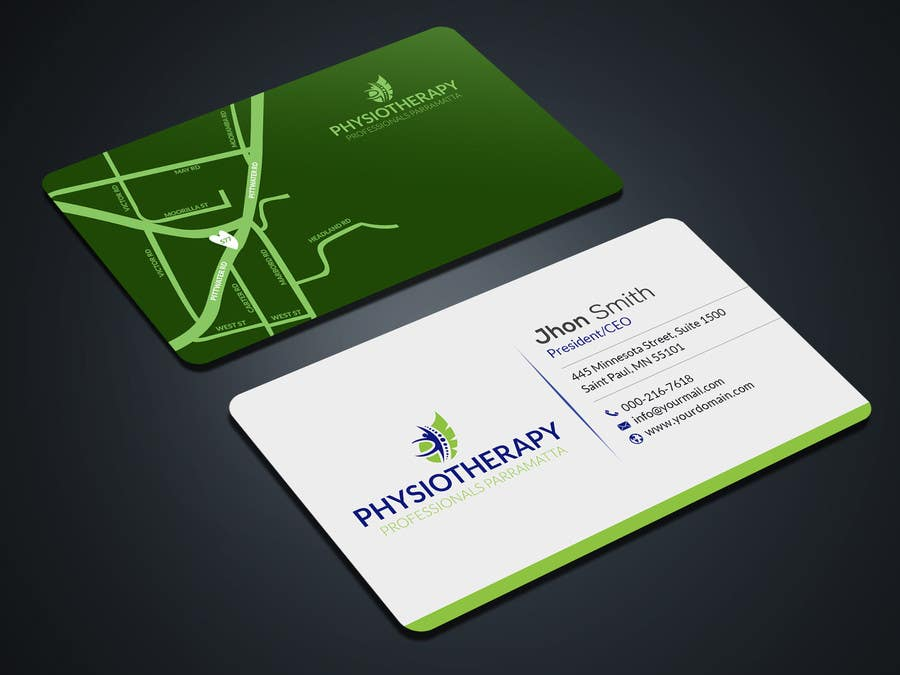 Entry #6 by mahmudkhan44 for design business card for physiotherapy ...