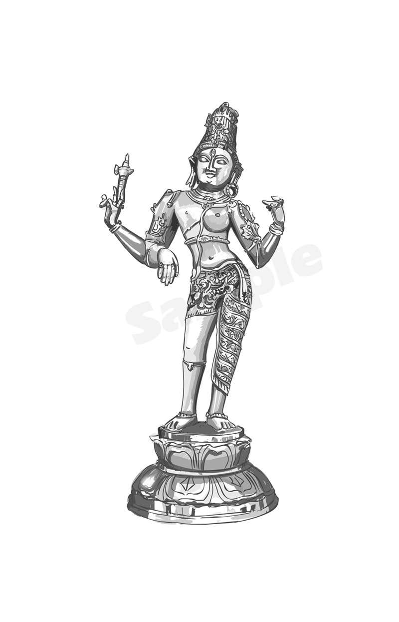 Konkurrenceindlæg #                                        20                                      for                                         Sketches of deities for a new book to be published on Hinduism