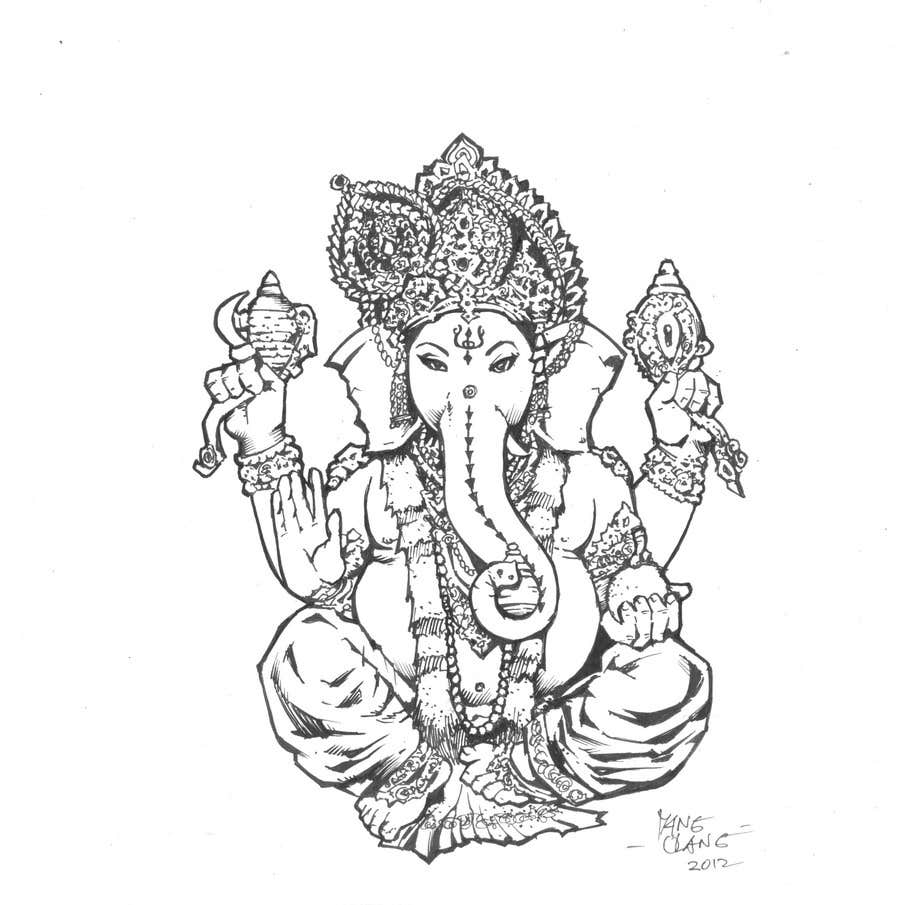 Konkurrenceindlæg #                                        38                                      for                                         Sketches of deities for a new book to be published on Hinduism