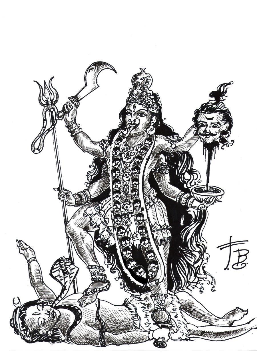 Inscrição nº                                         9                                      do Concurso para                                         Sketches of deities for a new book to be published on Hinduism