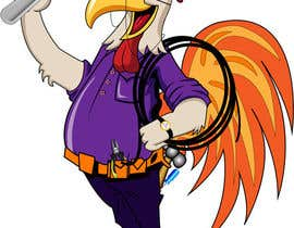 #36 untuk Need a Cartoon Rooster -- Cable TV Service Man Created! oleh datagrabbers