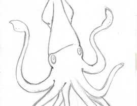 #5 untuk Squid Illustration (greyscale) with items oleh borisgrann