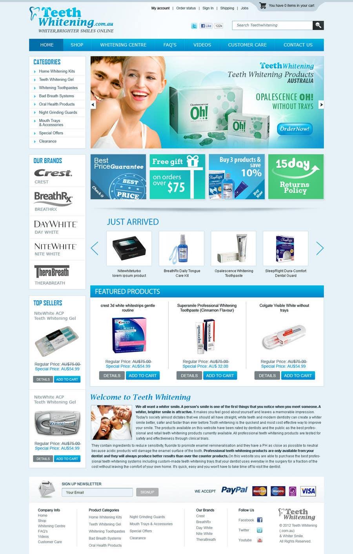 Bài tham dự cuộc thi #                                        49                                      cho                                         Website Design for Teeth Whitening Australia (Online Retailer)