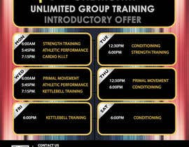 #8 for Design an eye catching timetable for my Group Personal Training Program by mirandalengo