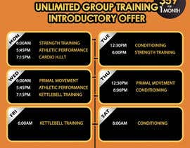 #21 for Design an eye catching timetable for my Group Personal Training Program by mirandalengo