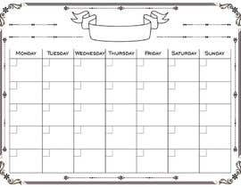 #107 for Easy $100 - Make a Monthly Calendar by karunrams