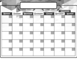 #118 for Easy $100 - Make a Monthly Calendar by arjeyjimenez