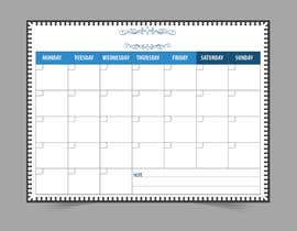#67 for Easy $100 - Make a Monthly Calendar by satishchand75