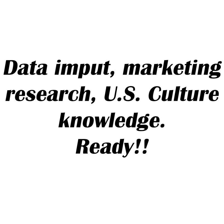 Inscrição nº                                         17                                      do Concurso para                                         Data imput, marketing research, U.S. Culture knowledge