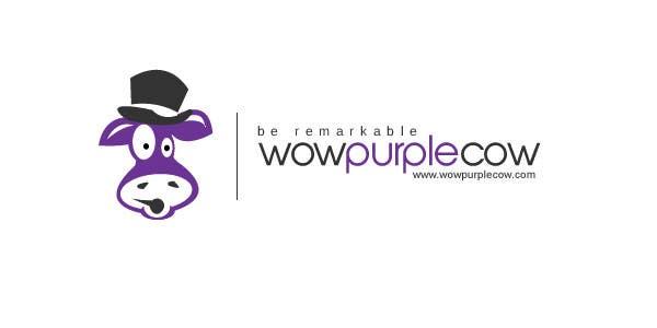 Bài tham dự cuộc thi #100 cho WOW! Purple Cow - Logo Design for wowpurplecow.com - Lots of creative freedom, Guaranteed Winner!