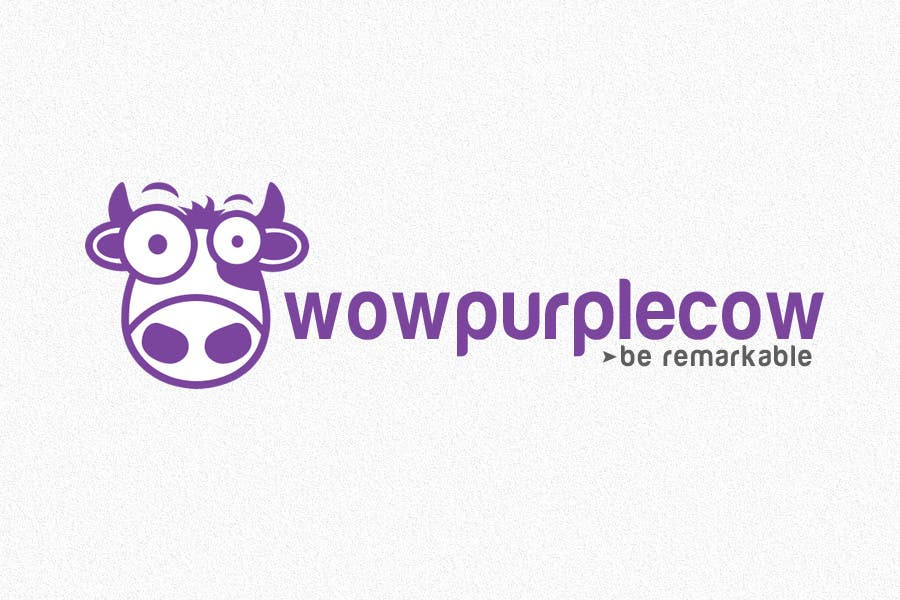 Entry 99 By Niwrek For Wow Purple Cow Logo Design For