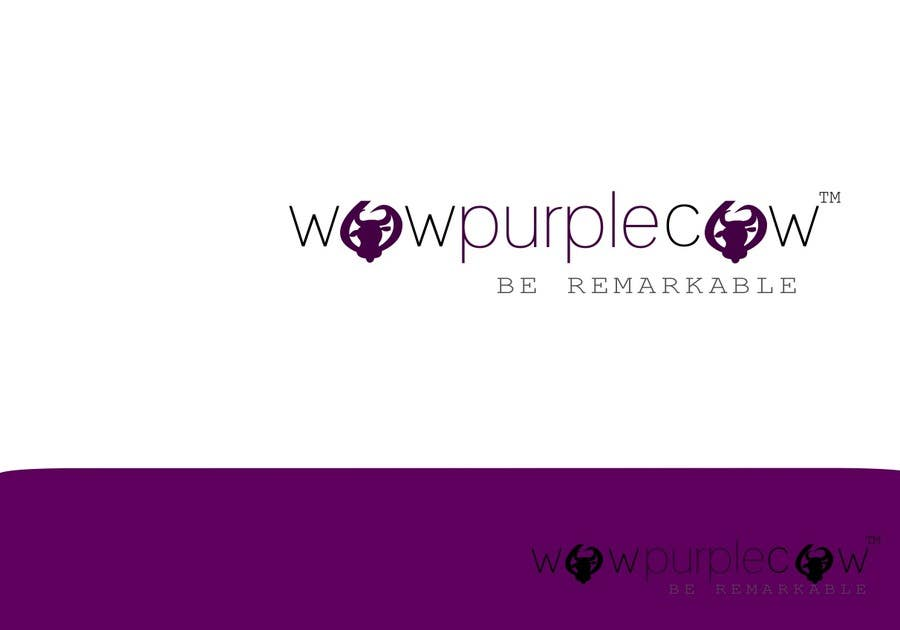 Entry 185 By Hashumaster143 For Wow Purple Cow Logo