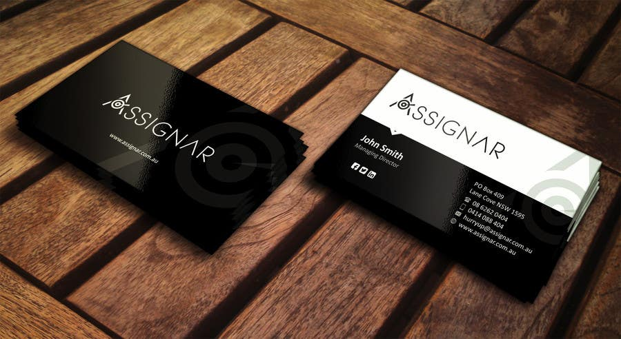 Entry 9 By Ezesol For Create Single Sided Business Card Design