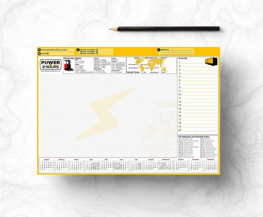 Entry 3 By Burnergrap For Design A Desk Planner Freelancer